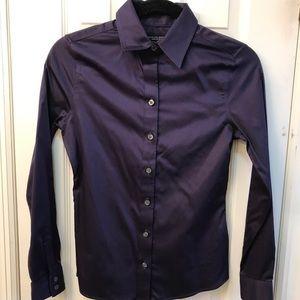 Banana Republic Non-Iron Size 00P Purple shirt